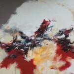 Yves De Smet, toile monumentale (4mx2m) au Pussifolies