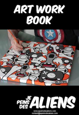 Art Work Book Je Peins Des Aliens - Front Cover