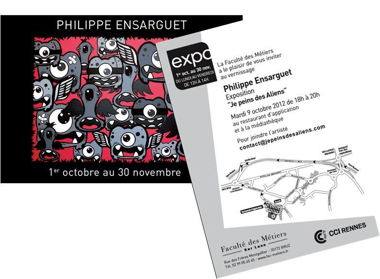 """Exposition """"Je Peins Des Aliens"""" à la Faculté des Métiers de Rennes"""